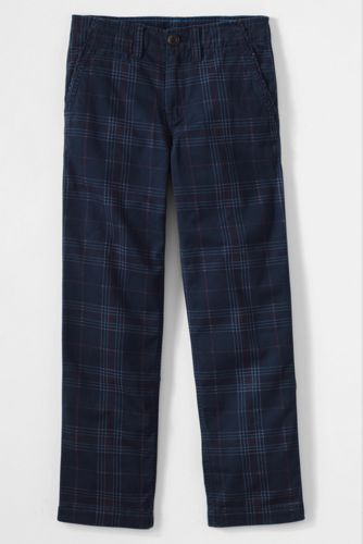 Little Boys' Iron Knee Plaid Cadet Trousers