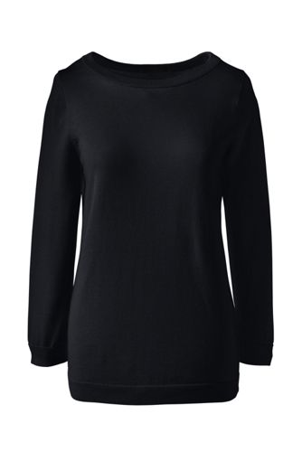 Le Pull Fine Maille Supima® Col Rond Femme, Taille Standard