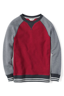 Boys' Textured Colourblock Crew Neck Sweatshirt