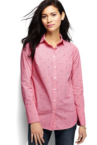 Women's Regular Long Length Print Shirt