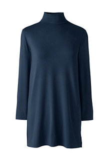 Women's  Cotton Modal Roll Neck Tunic