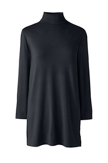 Women's Cotton Modal Polo Neck Tunic