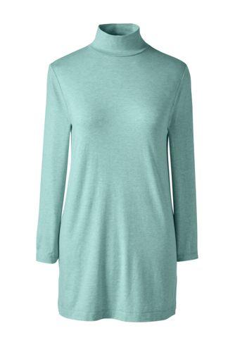 Women's Regular Cotton Modal Polo Neck Tunic