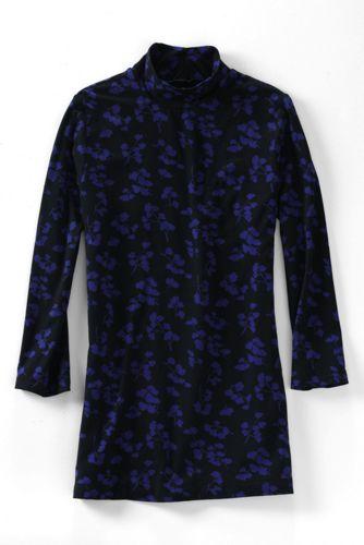 La Tunique Légère en Coton-Modal à Motifs Col Roulé Femme, Taille Standard