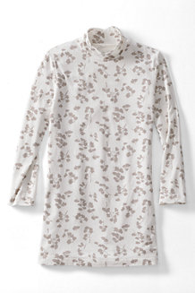 Women's Lightweight Cotton-Modal Print Roll Neck Tunic