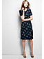 Women's Regular Short Sleeve Print Ponte Jersey Shift Dress