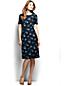 La Robe Droite à Motifs et à Manches Courtes en Ponte Jersey Femme, Taille Standard