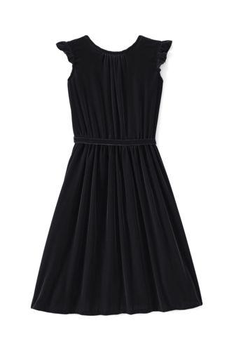 Little Girls' Velveteen Twirl Dress