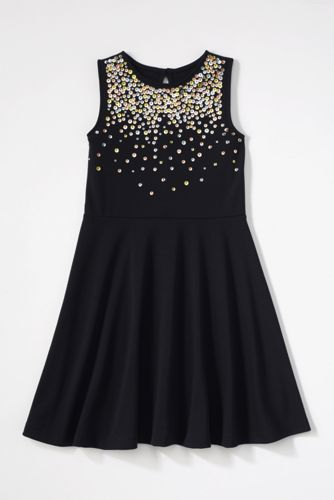 Girls' Ponte Jersey Sparkle Dress