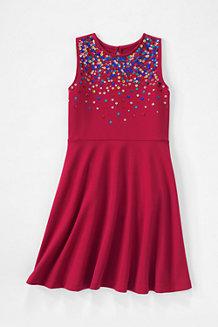 Ärmelloses Ponté-Kleid mit Pailletten für  Mädchen