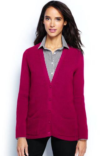 Le Cardigan Confort en Coton Femme, Petite Taille