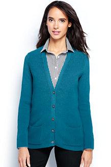 Women's Cotton Shaker Cardigan