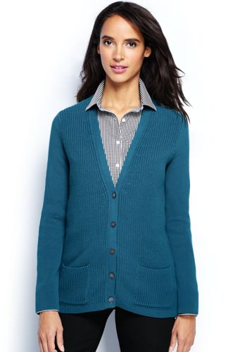 Women's Regular Cotton Shaker Cardigan