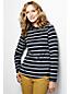 Women's Tall Everyday Print Fleece 100 Boatneck Jumper