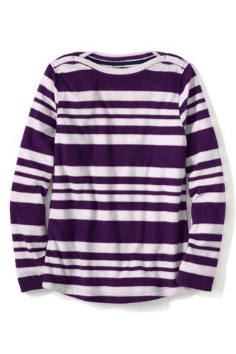 Le Pullover Confort en Polaire 100 Col Bateau à Motifs Femme, Stature Standard