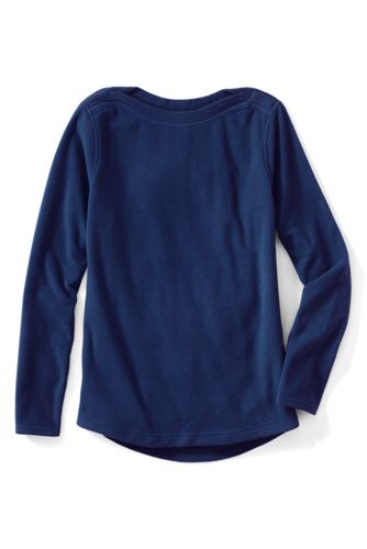Everyday 100 Fleece-Pullover mit U-Boot-Ausschnitt