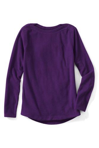 Le Pullover Confort en Polaire 100 Col Bateau Femme, Taille Standard