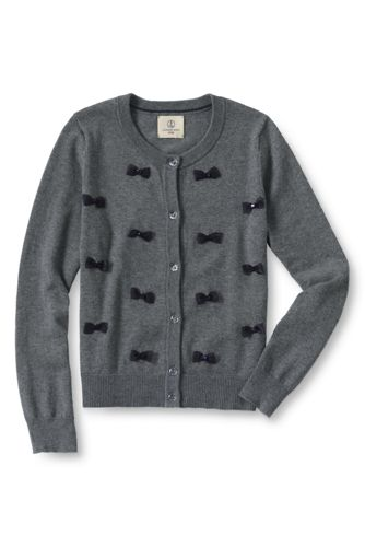 Girls' Novelty Bow Sophie Cardigan