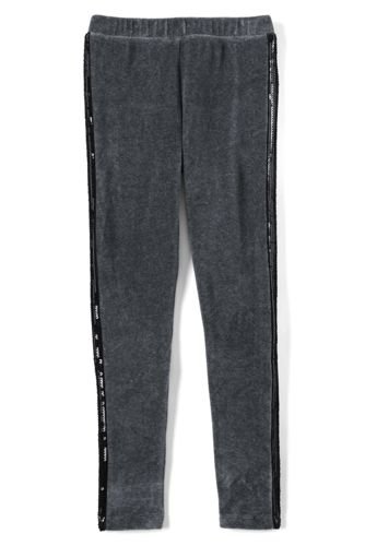 Little Girls' Velveteen Sparkle Side Stripe Legging