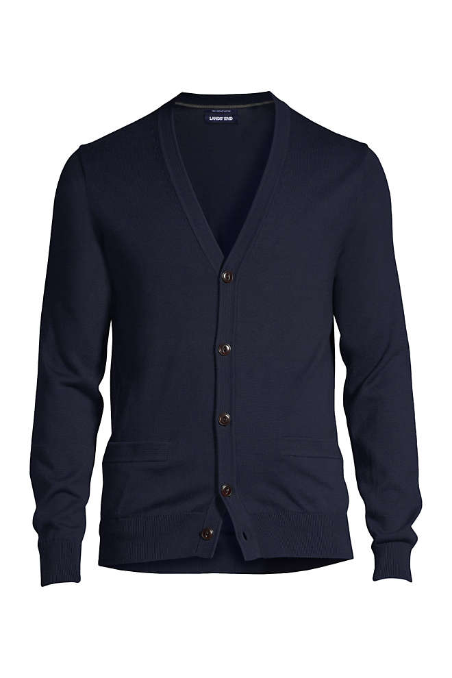 Men's Classic Fit Supima Cotton Cardigan Sweater, Front