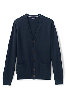Men's Fine Gauge V-neck Cardigan