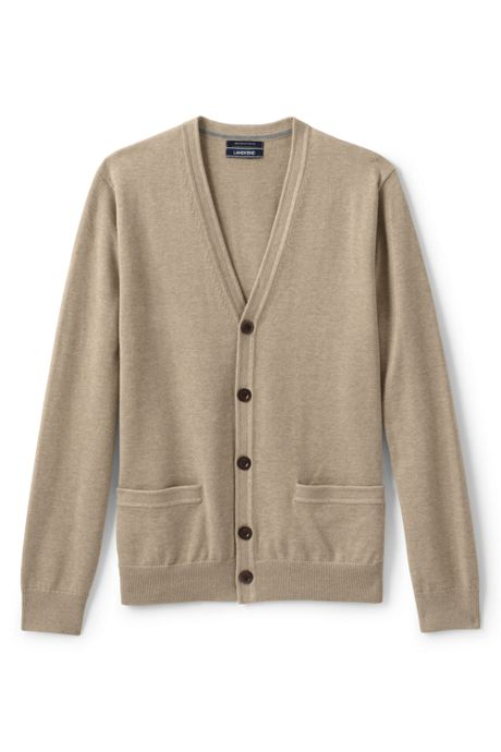 Men's Classic Fit Supima Cotton Cardigan Sweater