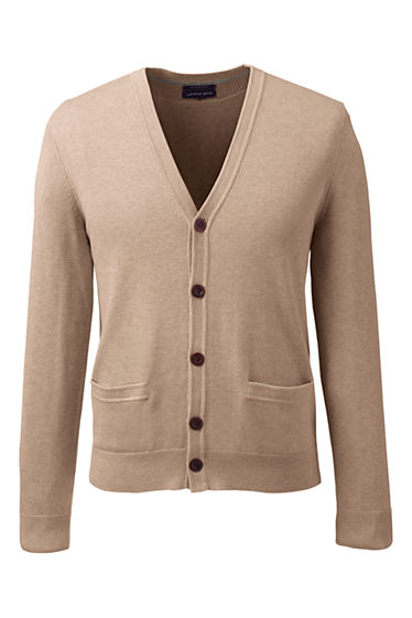 Men's Supima Cotton Cardigan Sweater from Lands' End