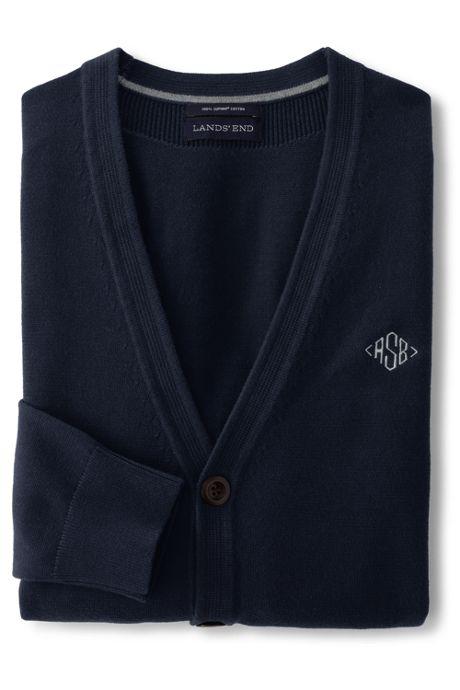 Men's Classic Fit Supima Cotton Cardigan Sweater