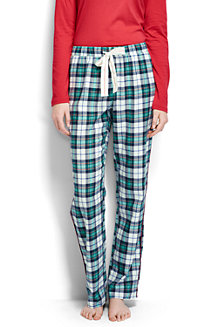 Gemusterte Flanell-Pyjamahose