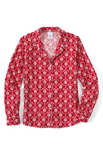 Women's Regular Patterned Flannel Pyjama Shirt