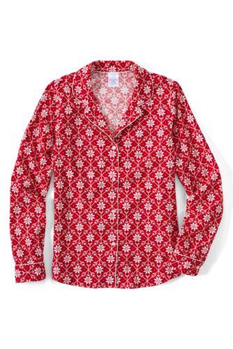 La Chemise de Pyjama en Flanelle à Motifs, Femme Taille Standard