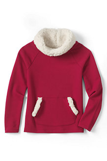Girls' Cowl Neck Sherpa Lined Sweatshirt