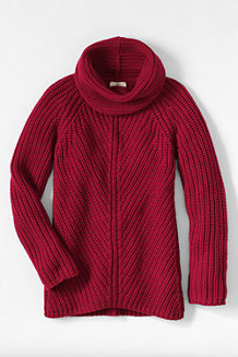 Le Pull Long Riche Col Boule Fille