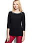 Women's Regular 3-quarter Sleeve Ponte Trim Top