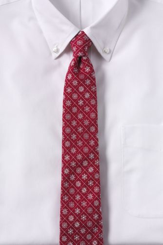 Men's Regular Snowflake Hand-sewn Silk/wool Tie