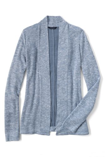 Women's Regular Long Marled Cardigan