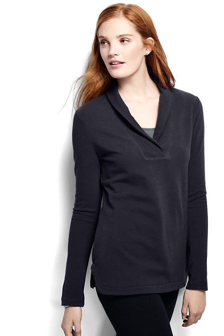 Women's Starfish Shawl Collar Top from Lands' End
