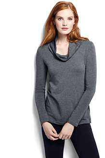 Women's French Terry Cowl Neck Jumper