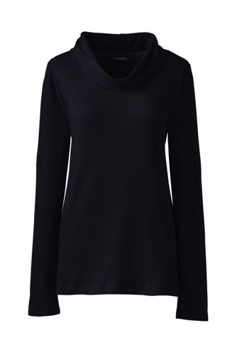 Women's Regular French Terry Cowl Neck Jumper