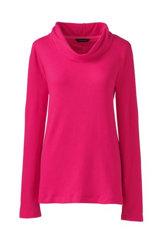 Le Pull Col Bénitier en French Terry, Femme Taille Standard