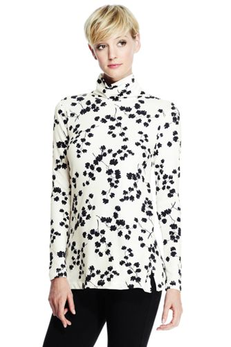 Women's Regular Roll Neck Print Tunic