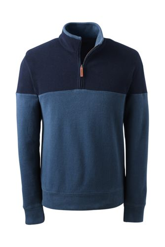 Men's Regular Colourblock Brushed Rib Pullover