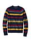 Lambswool-Pullover mit Multistreifen für Herren