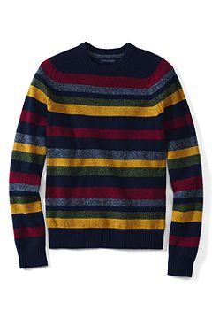 Multi Stripe Crewneck Lambswool Sweater 464021