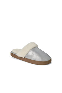 Women's Metallic Mule Slippers