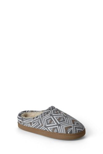Women's Regular Fair Isle Knit Slippers