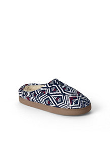 Fair Isle Fleece-Clogs mit Teddyfutter für Damen