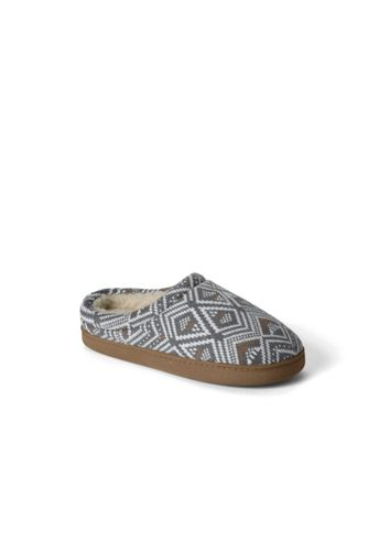 Women's Regular Fair Isle Knit Slippers