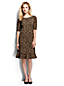 Women's Regular Print Ponte Jersey Fluted Hem Dress