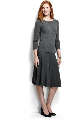 Zweiteiliges Supima Feinstrick-Kleid